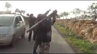 getlinkyoutube.com-Kuasa Allah SWT - Jet tentera basyar di bedil dengan hanya sebutir roket Mujahidin