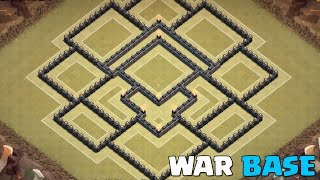 Clash of Clans | NEW TH9 War/Trophy Base w/ Air Sweeper!
