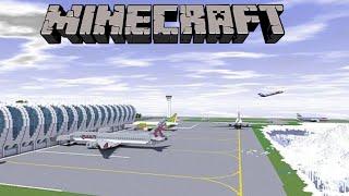getlinkyoutube.com-Minecraft Creations: Airport Showcase and Airplanes - Minecraft Creations Brothers
