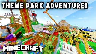 getlinkyoutube.com-Minecraft Maps - THEME PARK ADVENTURE [Ep1] (Rollercoasters, Mazes, Hunted Houses & more!)