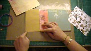 getlinkyoutube.com-Envelope Mini Album Tutorial Part 1 using Bo Bunny 'Gabrielle'