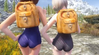getlinkyoutube.com-Skyrim Mod Review 30 - Loli Schoolgirl Swimsuits - Series: Boobs and Lubes
