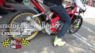 getlinkyoutube.com-Drag bike Kebumen | kawasaki ninja tu 155 FFA MD racing VS ABRT | spesial Creampie muffler PJRM