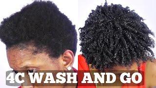 getlinkyoutube.com-Wash and Go Short Natural 4C Hair Tutorial