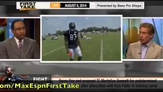 getlinkyoutube.com-First Take   Fight At Chicago Bears Training Camp