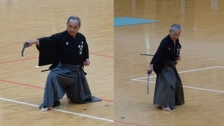 getlinkyoutube.com-Iaido 8th dan Demonstration model 居合道範士八段 古流 模範演武