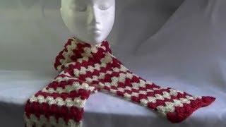 getlinkyoutube.com-Scarf / Afghan / Blanket Crochet Tutorial - Granny on the Straight - Variation 1