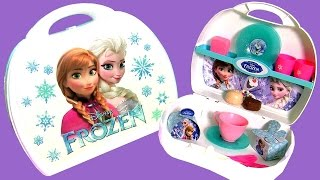 getlinkyoutube.com-Disney Frozen Fever Mini Kitchen Toy Set - Play Doh Maletin Cucina Küche Cocinita keuken køkken