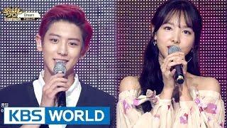 getlinkyoutube.com-Special Collaboration - ChanYeol & NaYeon [Music Bank / 2016.06.24]