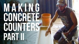 getlinkyoutube.com-Making Concrete Counter Tops - Part 2