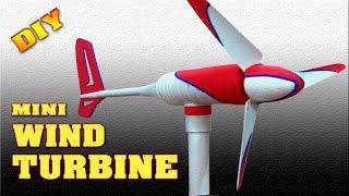 getlinkyoutube.com-Mini Wind Turbine Homemade DIY How to make free energy generator Small Wind Mill