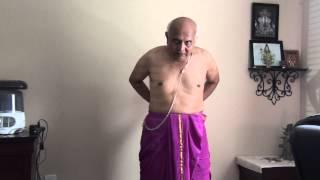 getlinkyoutube.com-How to wear Indian Pant (dhotar, sohale) - Part 1