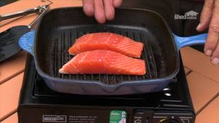 getlinkyoutube.com-The Shed Online - Cooking - Salmon on a camp stove