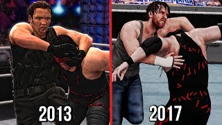 The Evolution Of Dean Ambrose's Dirty Deeds ( WWE 2K14 To WWE 2K18 )