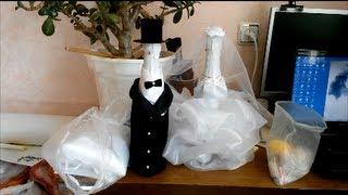 """getlinkyoutube.com-Как оформить свадебное шампанское """"Жених и Невеста"""" - рассказывает Аюна"""
