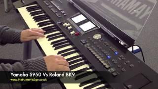 getlinkyoutube.com-Yamaha S950 vs Roland BK9 Keyboard Demo