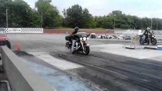 getlinkyoutube.com-Bagger Harley Drag Racing