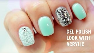 getlinkyoutube.com-Gel polish look with ACRYLIC!