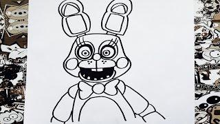 getlinkyoutube.com-Como dibujar a toy bonnie de five night at freddy's | how to draw toy bonnie
