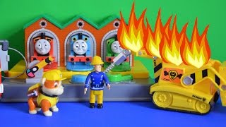 getlinkyoutube.com-Thomas and Friends Episode Fireman Sam Rescue Paw Patrol Rubble Full Story