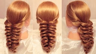 getlinkyoutube.com-Коса с помощью резинок - 4 (Объёмная) - Hairstyles by REM