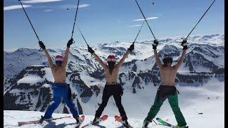 Topless Skiing in June 2016 - Viking HeliSkiing