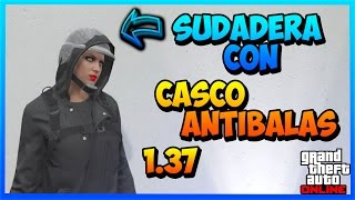getlinkyoutube.com-GTA V ONLINE 1.37 NUEVO TRUCO SUDADERA CON CASCO ANTIBALAS - *NEW* GLITCH 1.37- Viinax