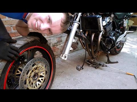Как Снять Переднее Колесо С Мотоцикла ПРАВИЛЬНО