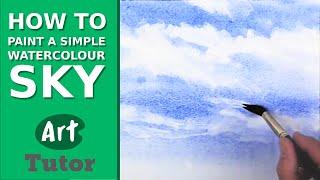 getlinkyoutube.com-How to Paint a Simple Watercolour Sky