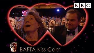 getlinkyoutube.com-Leonardo DiCaprio and Dame Maggie Smith on Kiss Cam - The British Academy Film Awards 2016 - BBC One