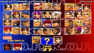 getlinkyoutube.com-GGPO KOF 98 Bahadir vs FERNANDO_A_POT3NCIA Kof 98 09/12/2014