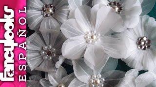 getlinkyoutube.com-Preciosas Flores variadas de papel vegetal DIY (inspiradas por LasCosasdelaLola y Laura Valios)