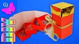 getlinkyoutube.com-Оригами коробочка для украшений :: Шкатулка-трансформер