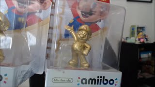 HELLO I AM BACK + vomit-covered Gold Mario Amiibo unboxing