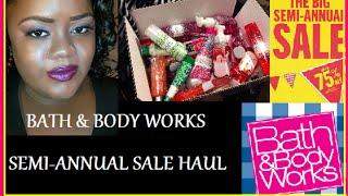 getlinkyoutube.com-Haul ▌Bath & Body Works Semi-Annual Sale! Winter Edition!