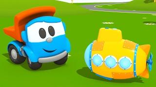 getlinkyoutube.com-Camioncino Leo junior e il Sottomarino #CARTONIANIMATI per bambini