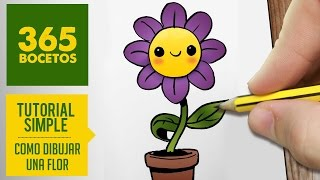 getlinkyoutube.com-COMO DIBUJAR UNA FLOR KAWAII PASO A PASO - Dibujos kawaii faciles - How to draw a Flower