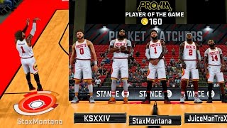 TOP 5 SHARPSHOOTER MADE 8 3's IN A ROW! DROPPED 21 POINTS IN THE 2ND HALF! - NBA 2K17 PRO-AM
