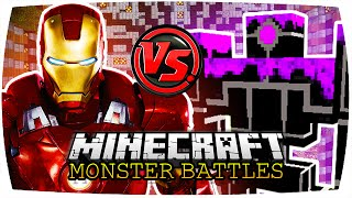getlinkyoutube.com-IRON MAN VS. ROBO WARRIOR, POUNDER & GUNNER | Minecraft: Monster Battles | [Deutsch // HD]
