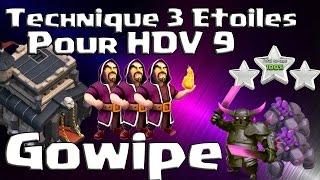 getlinkyoutube.com-Gowipe 3 étoiles Hdv 9 ! Technique GDC - Clash of Clans
