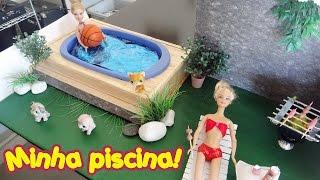 getlinkyoutube.com-Como fazer uma piscina para bonecas Barbie & Monster High