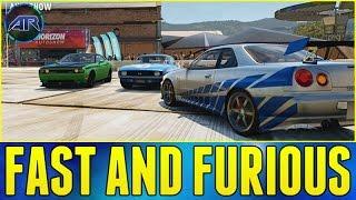 getlinkyoutube.com-Forza Horizon 2 Online : FAST AND FURIOUS CARS!!! (Furious 7 Trailer Discussion)