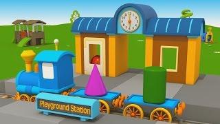 getlinkyoutube.com-Cartoni Animati per Bambini - Camion Leo Junior e la nuova stazione del treno
