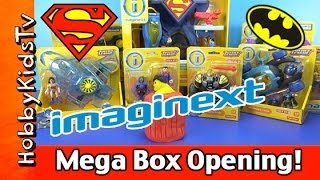 getlinkyoutube.com-Imaginext Superman Batman MEGA Box Opening Play-Doh Surprise Egg Lex Luthor Wonder Woman HobbyKidsTV