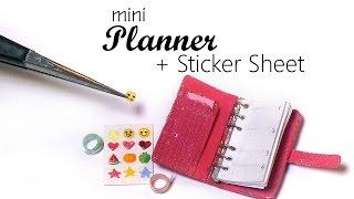 getlinkyoutube.com-Miniature Planner, Tape & Sticker Sheet Tutorial