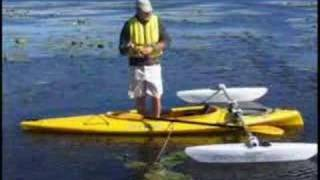 getlinkyoutube.com-kayak fishing - kayrak outrigger - www.kayrak.ca