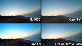 getlinkyoutube.com-Sj4000 vs Xiaomi Yi vs Eken H9 vs GoPro Hero 4 Black