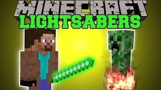 getlinkyoutube.com-Minecraft: LIGHTSABER MOD (USE THE POWER OF THE FORCE) Mod Showcase