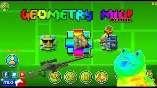 getlinkyoutube.com-Geometry Dash 2.01 & 2.02 - MLG texture pack By me || Especial 100 subs