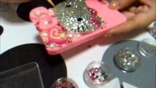 getlinkyoutube.com-Bling iphone 4 - Cute & Sweet hello kitty deco